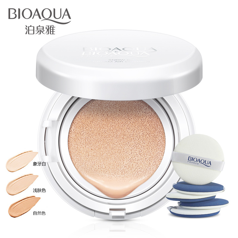 все цены на BIOAOUA Sunscreen Air Cushion BB CC Cream Concealer Moisturizing Foundation Whitening Makeup Bare For Face Beauty Makeup онлайн