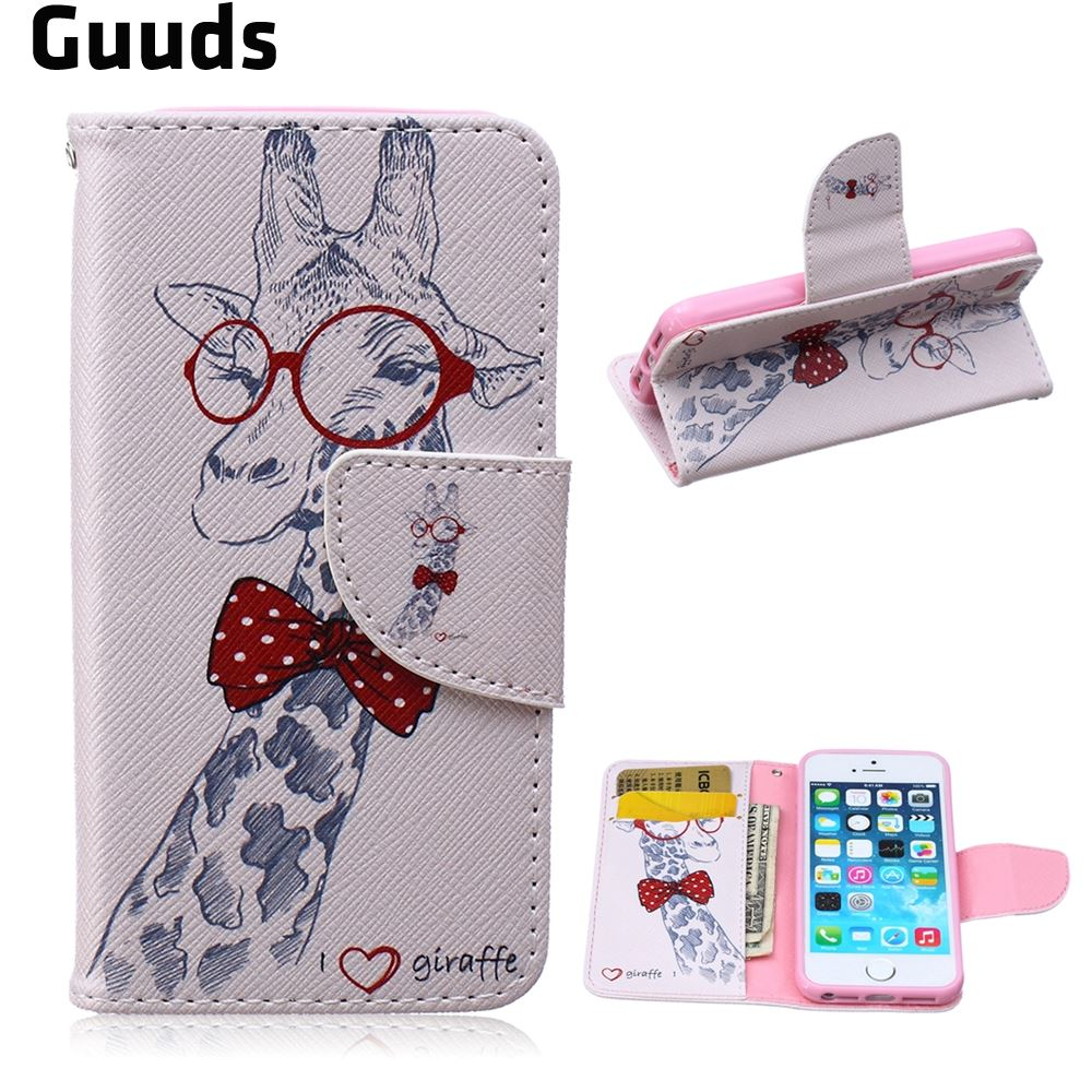 4f2e0f7f6f76 Detail Feedback Questions about For iphone5 case Glasses Giraffe Leather  Wallet Case for iPhone 5s   for iPhone 5 FREE SHIPPING on Aliexpress.com
