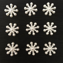 40 шт. 15 мм хороший жемчуг нежные снежинки записки DIY Craft Flatback Бусы B182