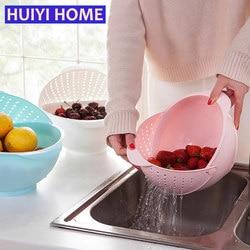 Huiyi Home 3-in-1 Kitchen Organizer Fruits And Vegetables Storage Washing Draining Basket Kitchen Accessories EGN007A