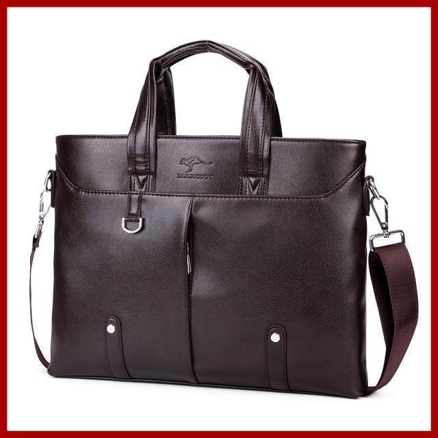 b9f29569b463 Classic High Quality Leather Business Men Bag Promotion Briefcase Zipper  Style Handbag Single Strap Messenger Bag 6688
