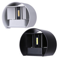 7W LED Outdoor Waterproof Wall Lamp IP67 Surface Indoor Cube LED Wall Light Aluminum White Black