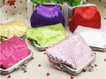 2016 Women's Sequins card Coin Purse Handy Buckle Mini Wallet Clutch Glittery bag