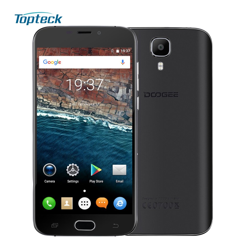 In Stock DOOGEE X9 Mini Fingerprint ID Smartphone Android 6.0 MTK6580 Quad Core 5.0 Cellphone 1GB+8GB 5MP 2000mAh Mobile Phone