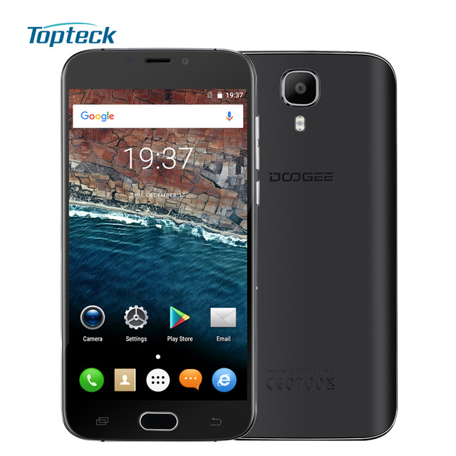 "In Stock DOOGEE X9 Mini Fingerprint ID Smartphone Android 6.0 MTK6580 Quad Core 5.0"" Cellphone 1GB+8GB 5MP 2000mAh Mobile Phone"