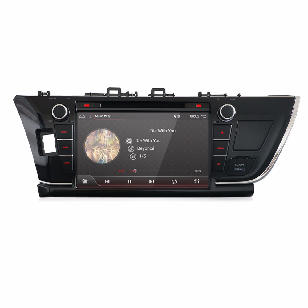 10.1 Android 7.1 Car DVD Player Headunit Radio GPS Navi Stereo Automotive for Toyota Corolla 2013 2014 2015 HD Screen