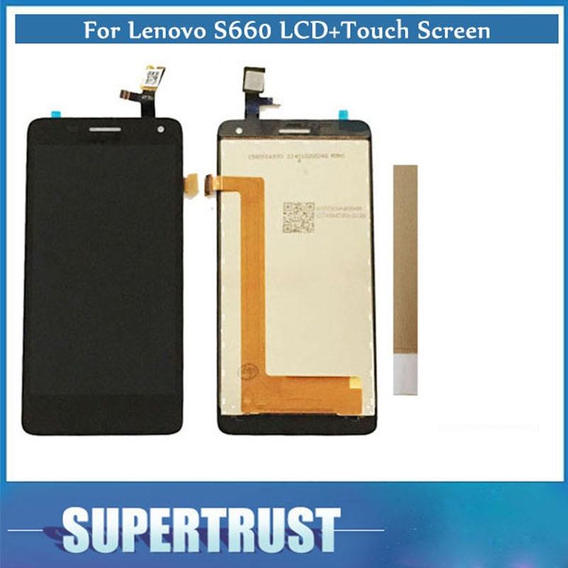 """Original 1 PC 4,7 """"para Lenovo S660 S 660 pantalla LCD + MONTAJE DE digitalizador de pantalla táctil Color negro con grifo"""