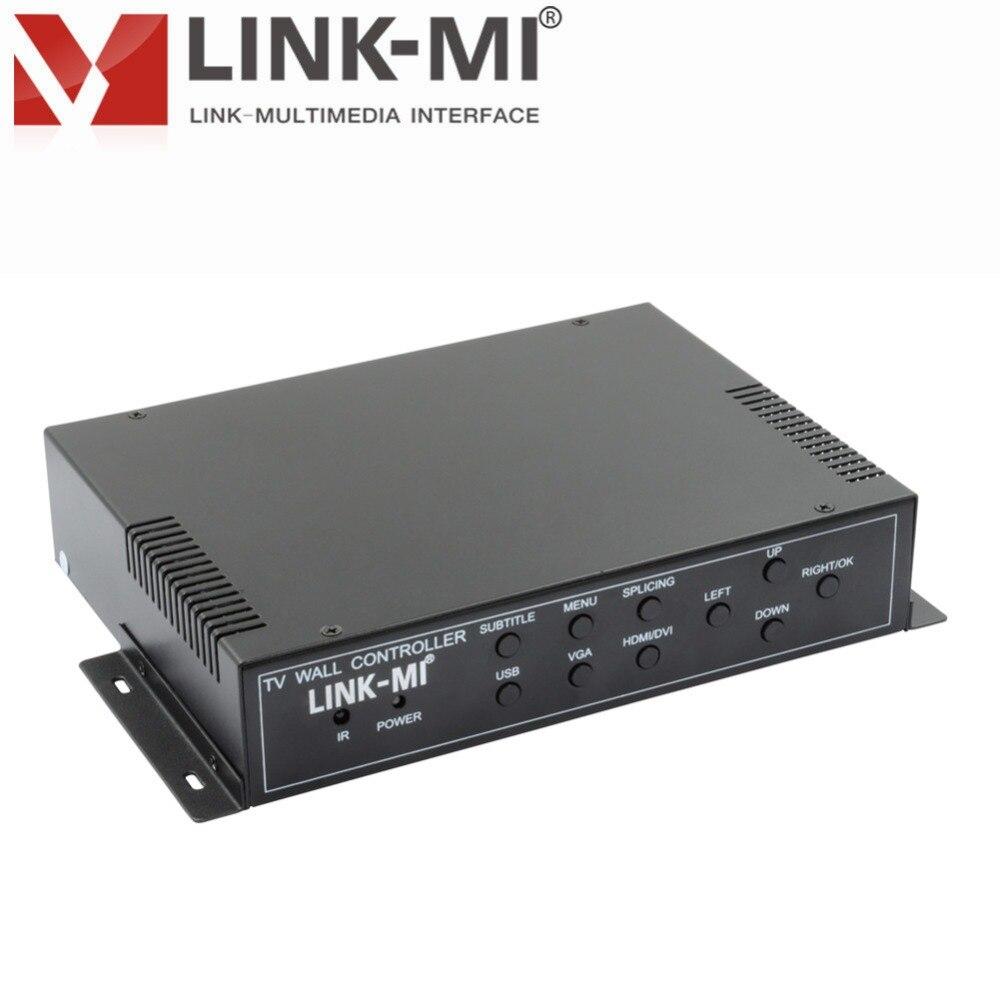 New Look 2x2 контроллера видеостены VGA/HDMI/USB/DVI RS232 специальные ЖК дисплей ТВ, очень узкий ЖК дисплей проекционный экран HD экран сплайсинга