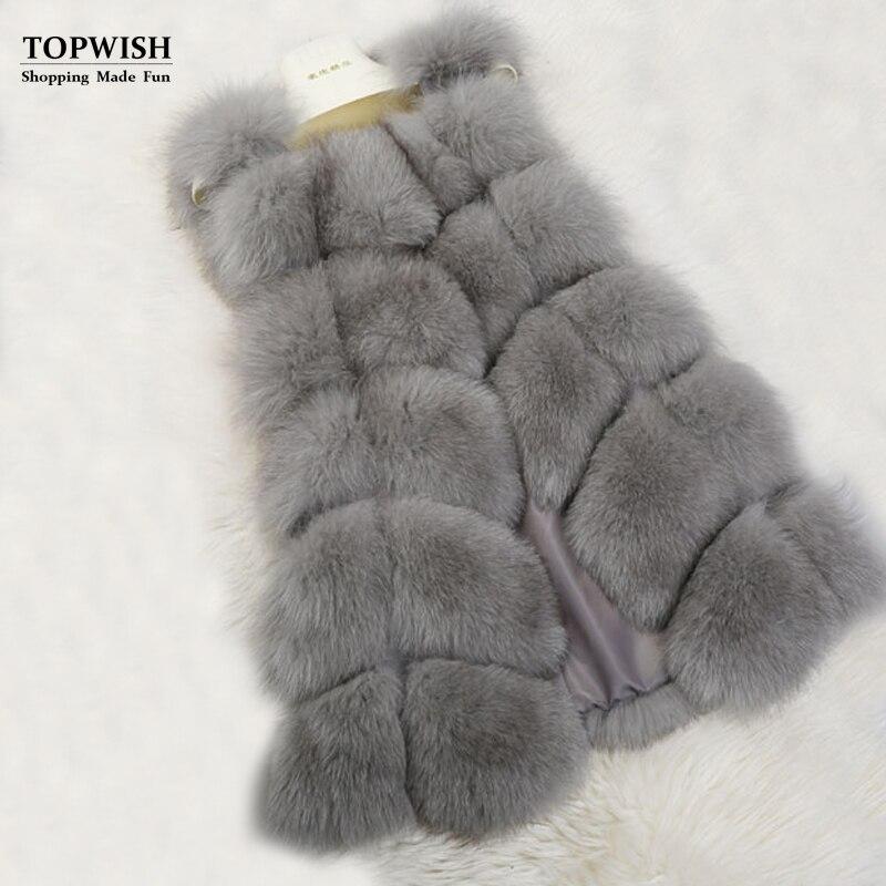 Nouveau gilet Long en fausse fourrure gilet de fourrure de luxe pour les femmes livraison gratuite TFP365