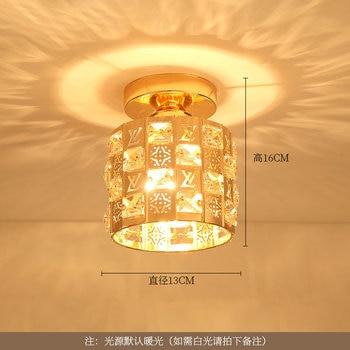 Artpad Modern LED Crystal Ceiling Light for Entrance Corridor Balcony Aisle Decor Surface Mount Square Round Gold Ceiling Lamp 9