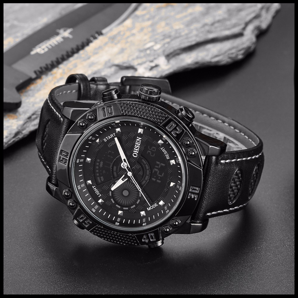 OHSEN Brand Mens Fashion Casual Reloj Quartz Watch Digital LED Relogios Military Relogio Masculino Diving Waterproof Men Watches (24)