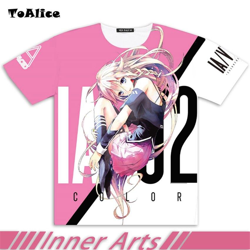 VOCALOID IA T chemise 2017 Japonais Anime Cosplay Vêtements Plein graphique T-shirt Pour Homme et Femmes Marque Chemisette Otaku de Baisse le bateau