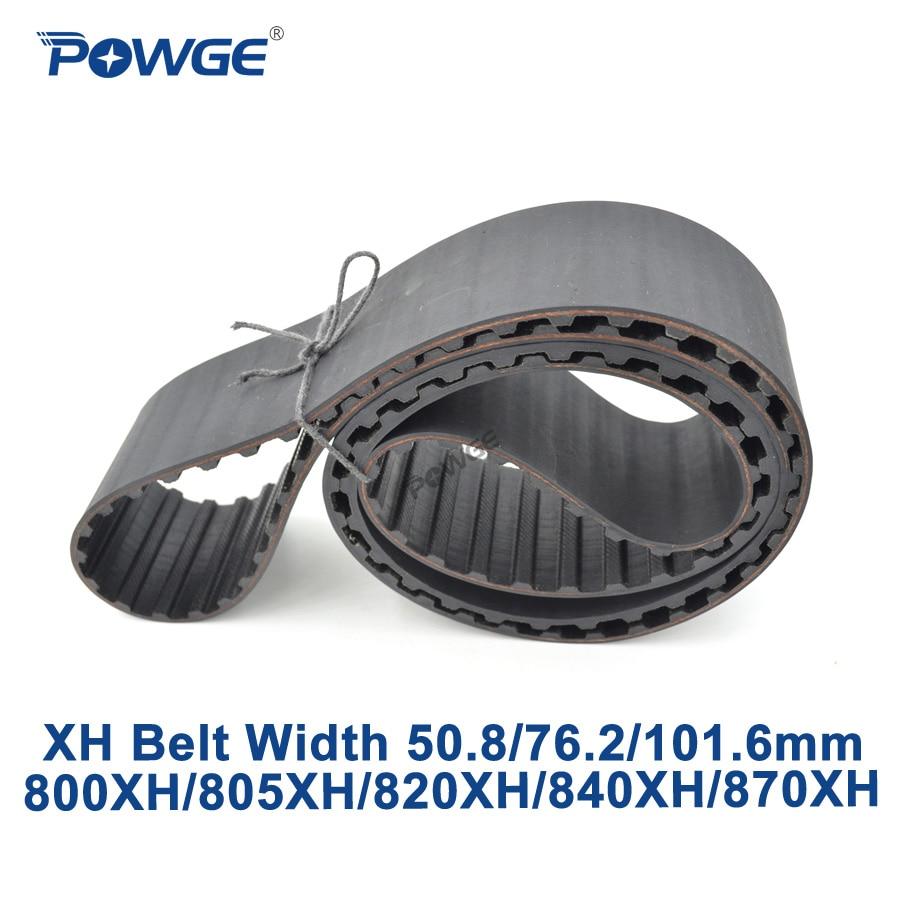 POWGE Inch XH Synchronous belt 800XH/805XH/820XH/840XH/870XH Teeth 91 92 94 96 99  Width 50.8/76.2/101.6mm Rubber timing Belt