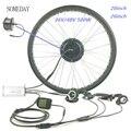 Водонепроницаемый 36V 48V 500W fat ebike Снежный велосипед  набор для преобразования электрического велосипеда  20 дюймов  26 дюймов  колеса  Передняя ...