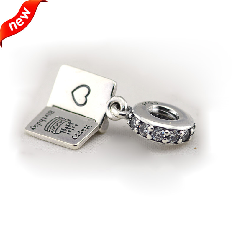 CKK 925 Sterling Silver Jewelry Happy Birthday Wishes Original