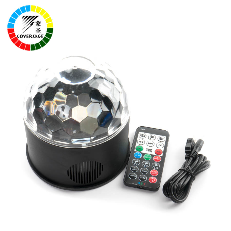 Coversage Led Disco Party Stage Light Club USB DJ Laser Bluetooth Music Speaker With Remote Controller Mini RGB Projector Lamp