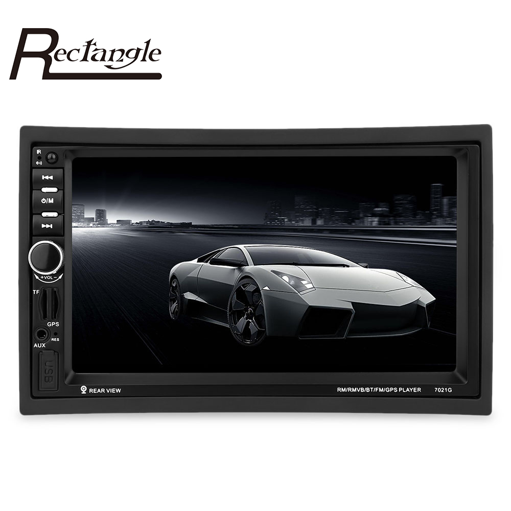 7021G 2 Din font b Car b font MP4 MP5 Player 7inch Touch Screen With Radio