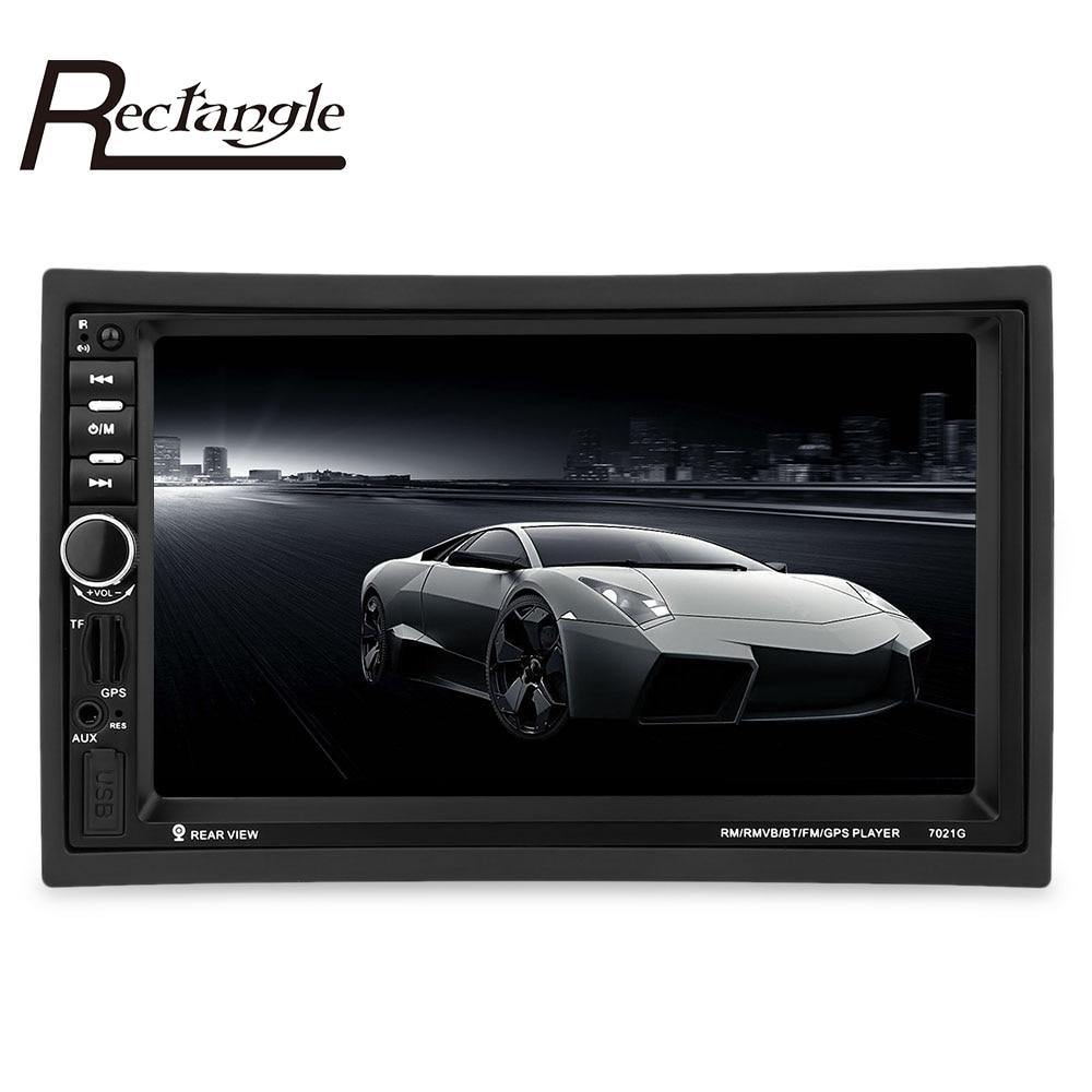 imágenes para 7021G 7 inch 2 Din Car MP5 Player GPS Navigation Bluetooth Car Radio Auto Multimedia Player with Remote Control FM Audio