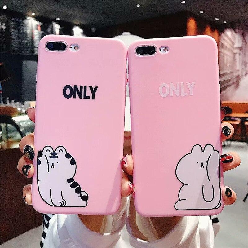 Cute Couple Cover Soft Silicone Tpu Gel Capinhas Etui Case