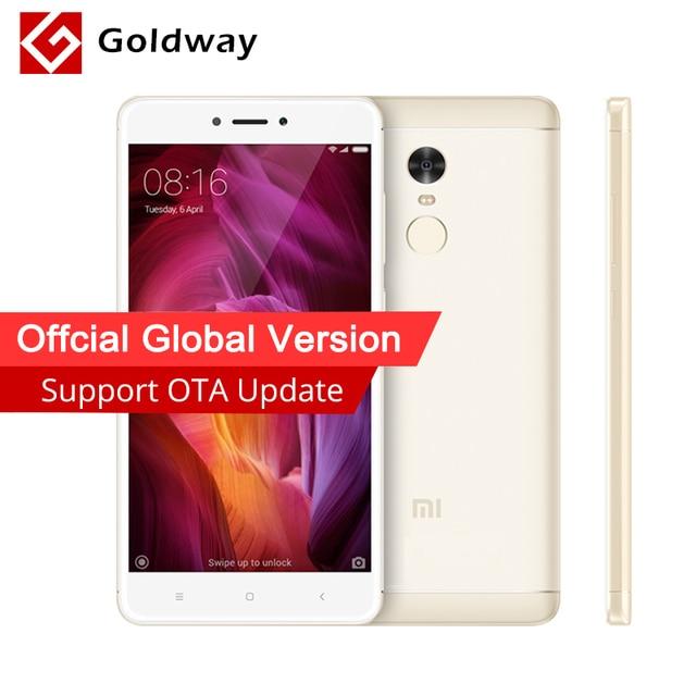 Глобальная версия Xiaomi Redmi Note 4 3 ГБ Оперативная память 32 ГБ Встроенная память мобильного телефона Snapdragon 625 Octa core 13MP Камера отпечатков пальцев Поддержка оты