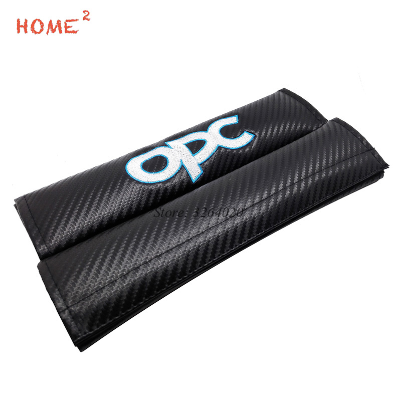 Car Styling for OPC Logo Seat Safety Belt Cover Shoulder Protective Pad Sleeve for Opel Vectra c b Astra f g h Insignia Corsa b