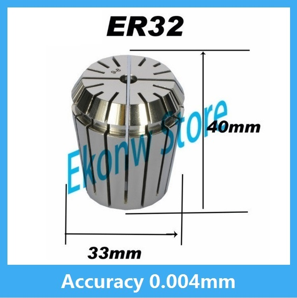 High precision ER32 Accuracy 0.004mm Spring Collet For CNC Milling Machine Engraving Lathe Tool Free Shipping free shipping high precision easson gs11 linear wire encoder 850mm 1micron optical linear scale for milling machine cnc