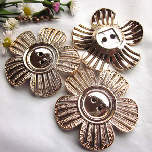 24pcs 48mm Rose gold flower de