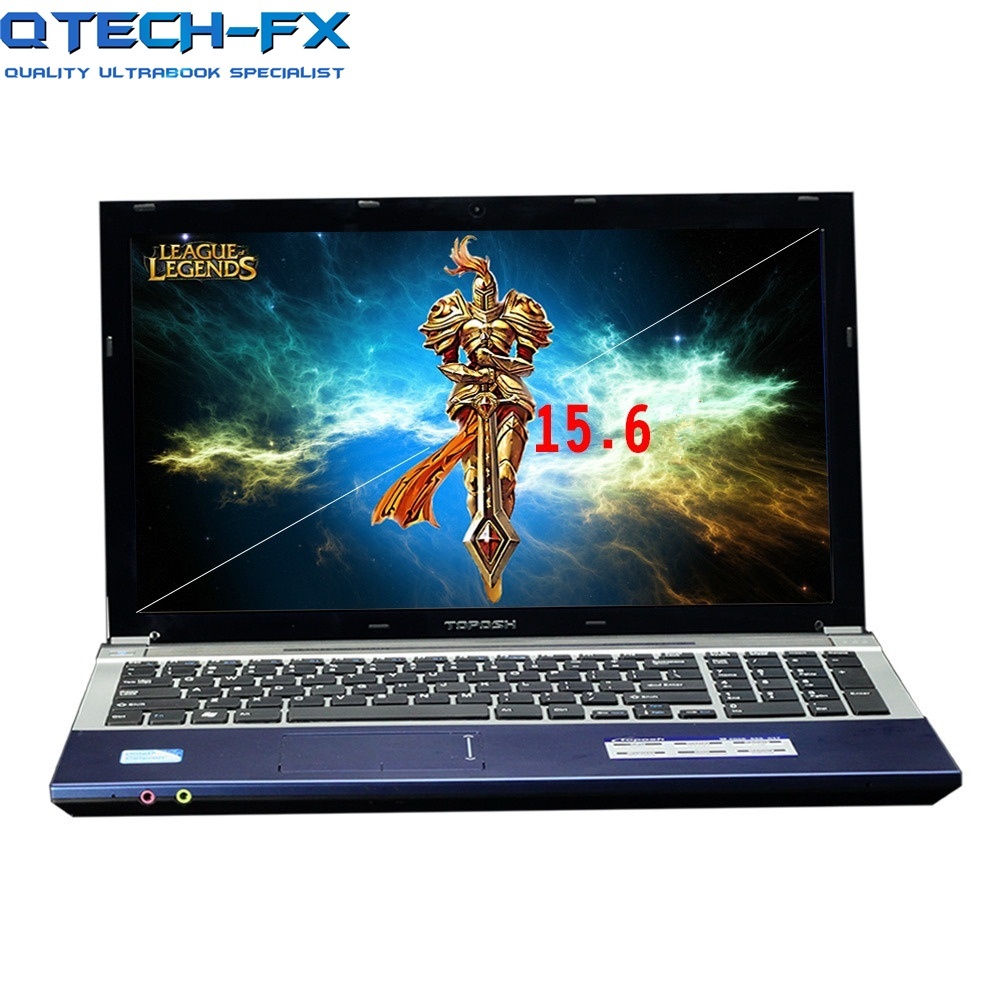 15.6 Notebook 8GB RAM 750GB/1000GB 1TB HDD DVD Metal PC Fast CPU Intel Pentium 4 Core Arabic AZERTY Spanish Russian Keyboard