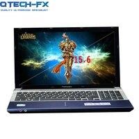 15.6 Notebook 8GB RAM 750GB/1000GB 1TB HDD DVD Metal PC Fast CPU Intel Pentium 4 Core Arabic AZERTY Spanish Russian Keyboard