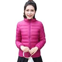 Solid Color Ultra Light Women Winter Jacket Short Autumn Coat Plus Size 4XL Basic Jacket Padded