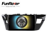 Funrover Android 8,0 2 din dvd плеер автомобиля для Toyota corolla 2014 2015 gps навигация Радио мультимедийный плеер 2 г + 32 г QuadCore FM