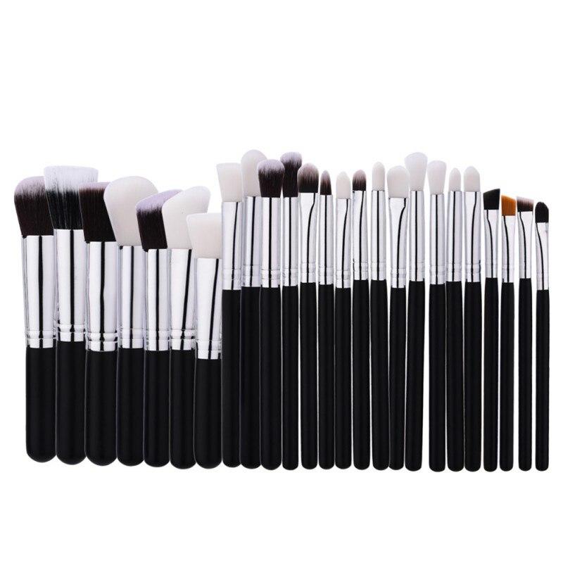 Black Patchwork Makeup Brushes Set pinceis de maquiagem Tools kit Foundation Powder Blushes natural-synthetic hair brochas