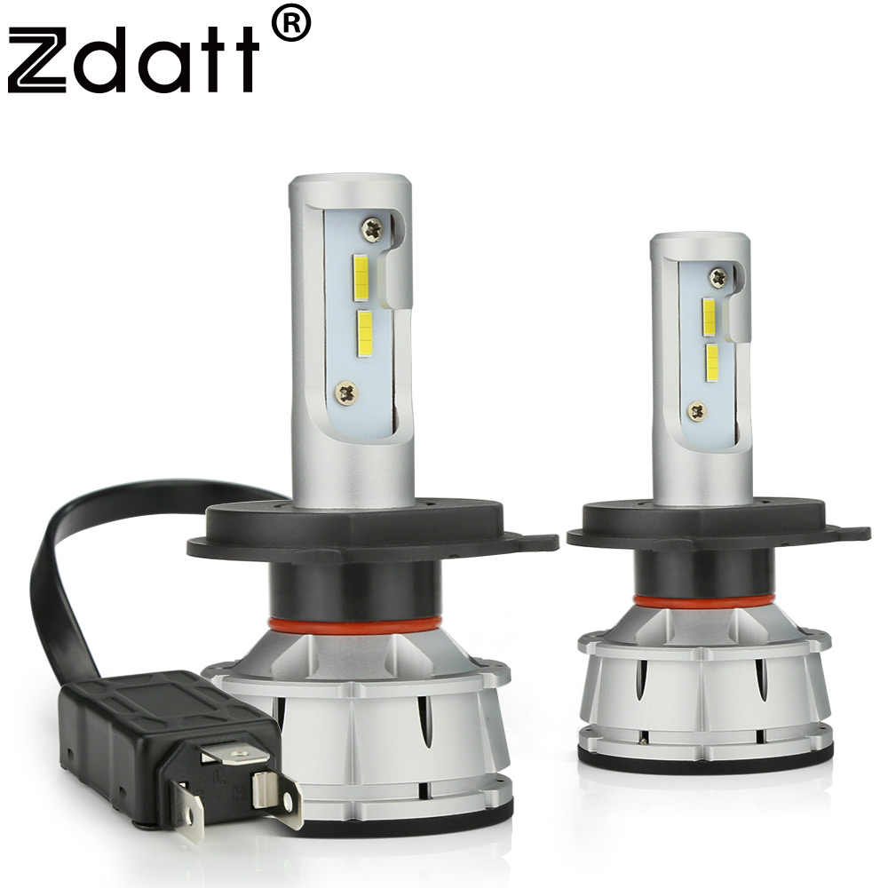 Zdatt H4 LED Bulb Canbus H7 LED H11 H8 H1 HB3 9005 9006 H9 Car Light Headlight Bulb 12000LM 100W 6000K CSP 12V 24V Auto HB4 Led