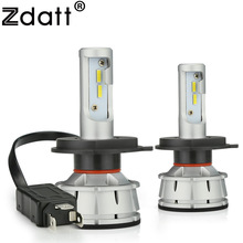 Zdatt H4 LED Bulb Canbus H7 LED H11 H8 H1 HB3 9005 9006 H9 Car Light Headlight Bulb 12000LM 100W 6000K CSP 12V 24V Auto HB4 Led цены онлайн