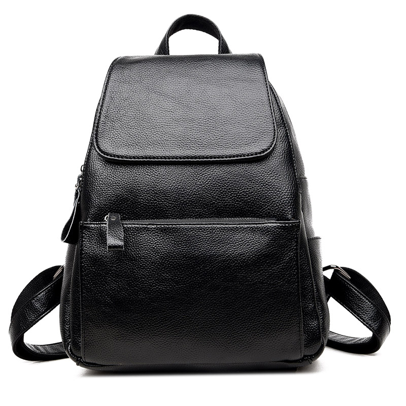 Hot Sale Vintage Genuine Leather Backpack High Quality Women Backpacks Solid School Bags For Girls Travel
