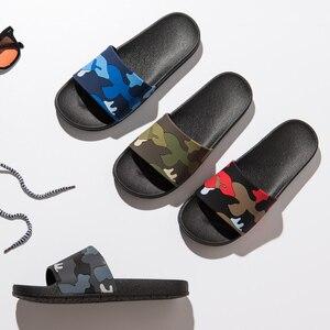 Image 5 - ASIFN kapcie męskie Casual slajdy męskie antypoślizgowe kryty lato na świeże powietrze plaża klapki kamuflaż sandały 4 kolory Zapatos Hombre