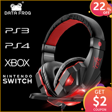 DATA FROG Gaming Headphones for PS4 Headphones with Microphone for Sony PS4 PS3 for Nintend switch for Xbox one Earphone for PC цена и фото