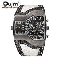 Mens Saatler Oulm Sıcak Satış Marka Saat Relojes Lujo Marcas Erkekler Montres de Marque de Luxe Erkek Askeri Ordu Spor Bağbozumu izle