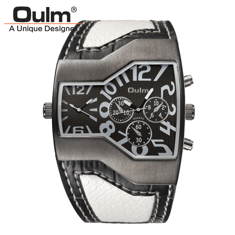 Mens Watches Oulm Hot Sale Brand Clock Relojes Lujo Marcas Men Montres de Marque de Luxe Male Military Army Sports Vintage watch цена и фото
