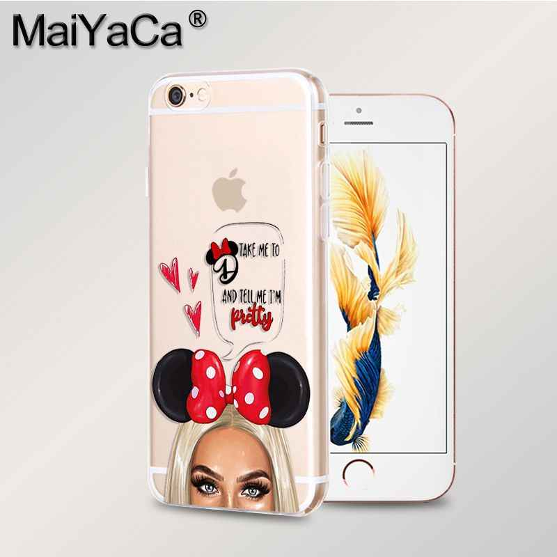 MaiYaCa 黒茶色の髪赤ちゃんのママ女の子王女高品質電話ケース iphone 8 7 6 6S プラス × 10 5 5S 、 SE XS XR XS 最大カバー