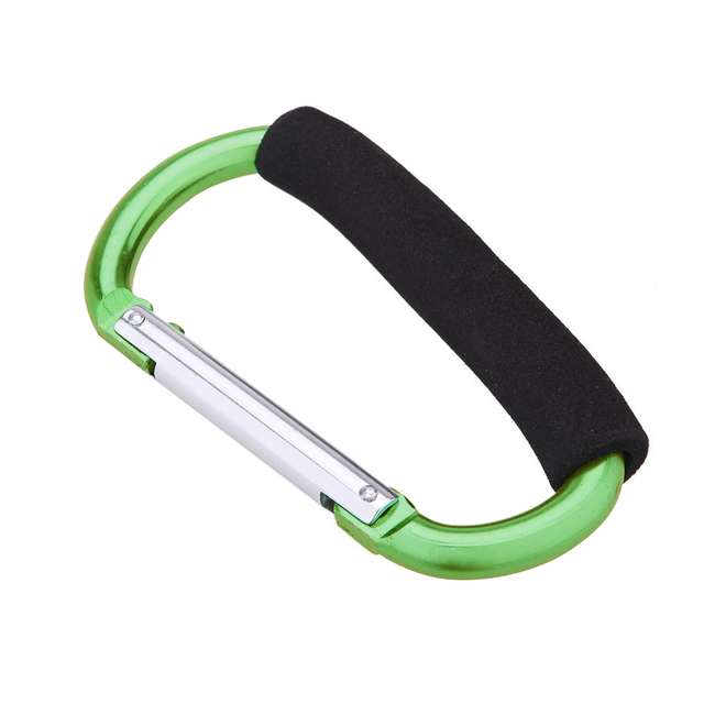 14 cm Large D shape aluminum alloy carabiner soft handle Shopping hook camp hook outdoor key