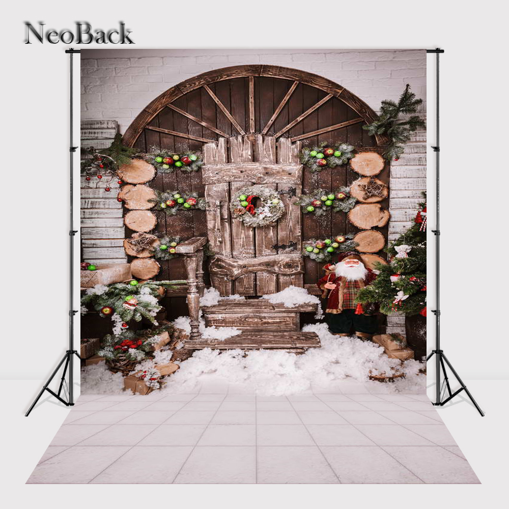 NeoBack 5x7ft Vinyl Newborn Baby Christmas Party Photographic Background Children Kids Holiday Scene Studio Photo Backdrop P1135