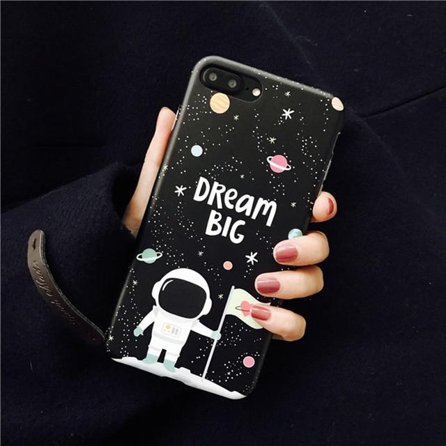 "Space Man Astronaut ""Big Dream"" Phone Case for iPhone6s 6 Fundas for iPhone 7 7plus 6P 6splus Soft Original Case From Jenny"