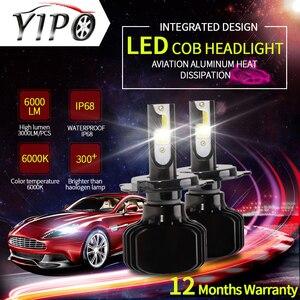 Image 5 - h7 led headlight h4 led H11 H1 H3 880 9005 9006 hb3 hb4 5202 D2 9012 9004 9007 H13 H15  auto Car Light headlamp 12V 2 COB 6000K