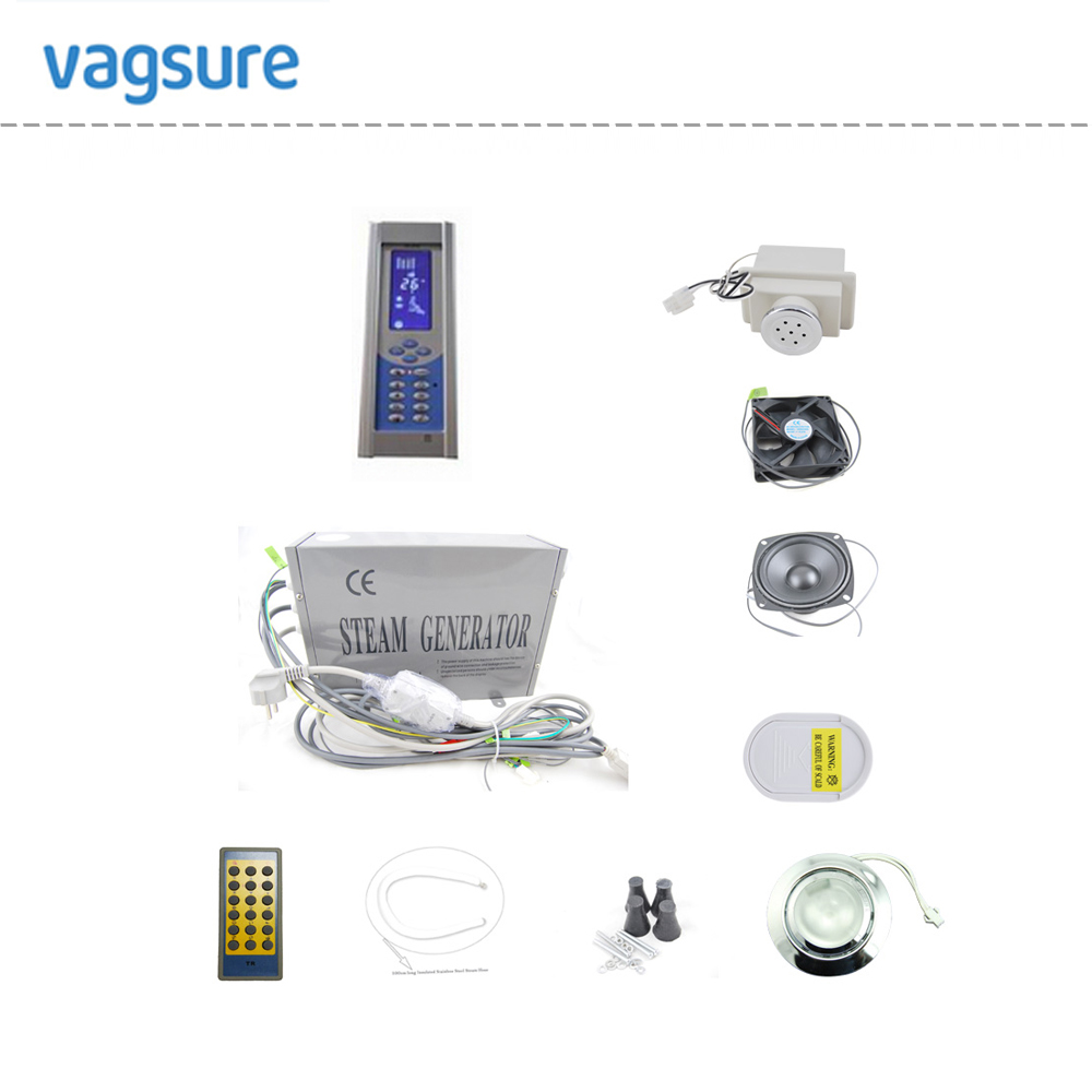 hot sale economy price wall mounted floor mounted 3kw shower steam generator sauna generator with shower cabin accessories