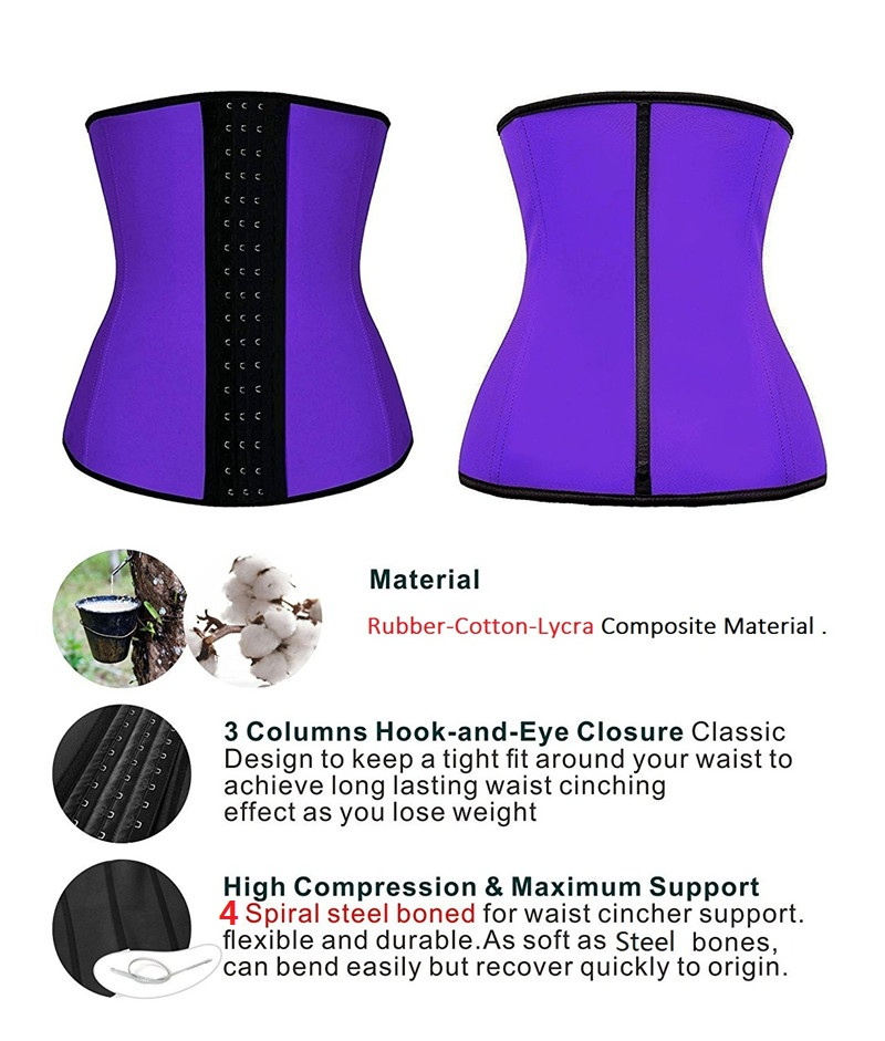 NINGMI Women Waist Trainer Rubber Latex Modeling Belt Weight Loss Corrective Underwear Corset Cincher Sexy Hourglass Body Shaper (29)