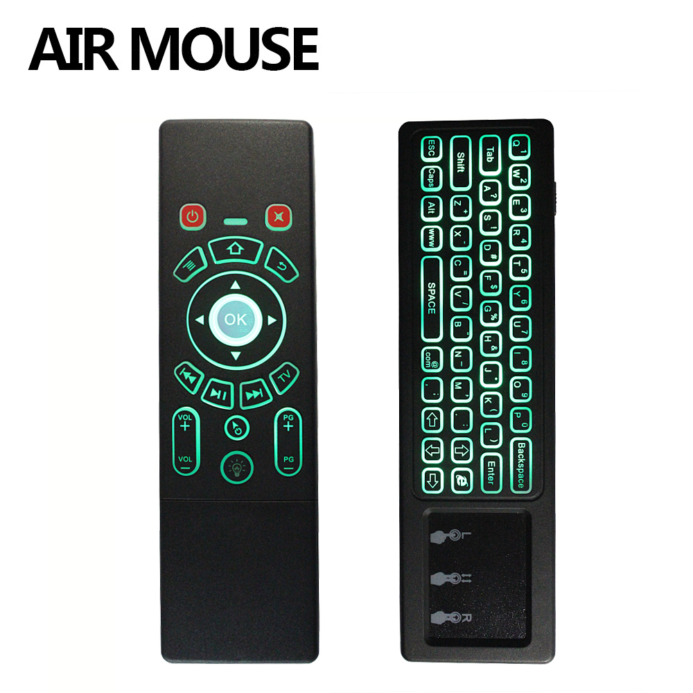 Backlit T6 2.4G Fly Air Mouse with Keyboard&Touchpad Wireless Smart Remote Control for X96 H96 pro Smart Android TV Box Mini PC цена и фото