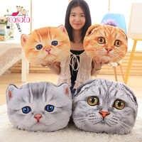 40 см и 50 см подушка для кошки, подушка для автомобиля, креативная Мягкая Милая Подушка для сна в форме кошки, милая подушка для сиденья, плюше...