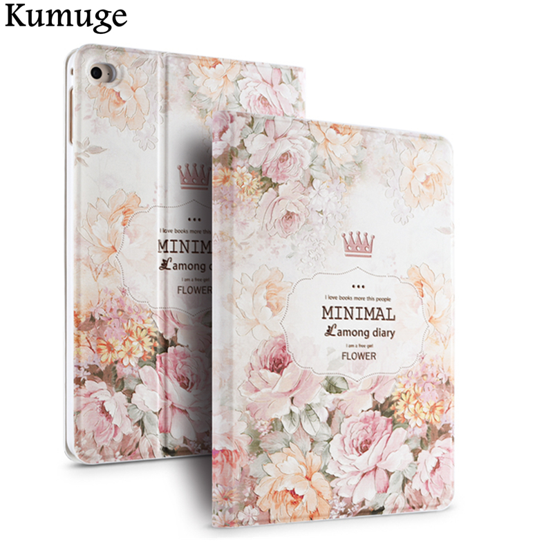 Case for iPad Mini 4 Fashion 3D Releif Floral Painting PU Tablet Hard Cover for iPad Mini 4 7.9 inch Funda Capa Para+Film+Pen cover case for apple ipad mini 1 2 3 tpu silicone back cover for ipad mini 4 flip stand protect tablet case capa para film pen