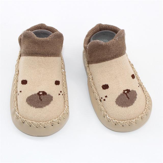 Baby Socks Rubber Soles Infant Floor Sock Animal Style Newborn Children Indoor Socks Shoes Anti_Slip Soft Sole Baby Girl Socks